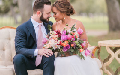 Colorful Sunset Wedding